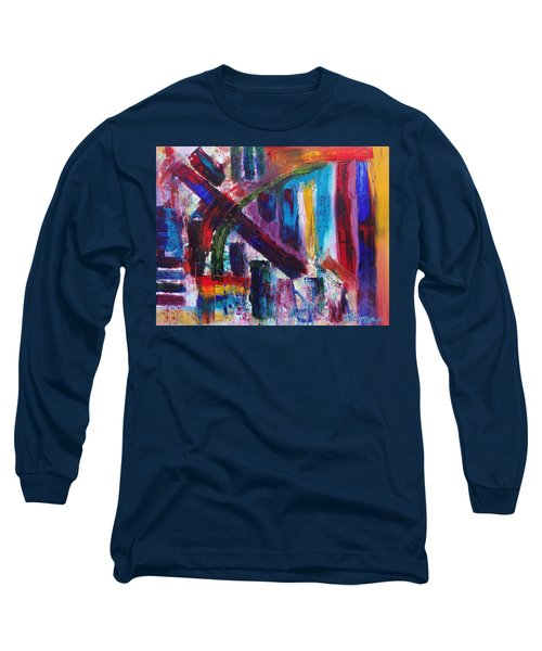 Long Sleeve T-Shirt featuring the painting Untitled # 9 by Jason Williamson