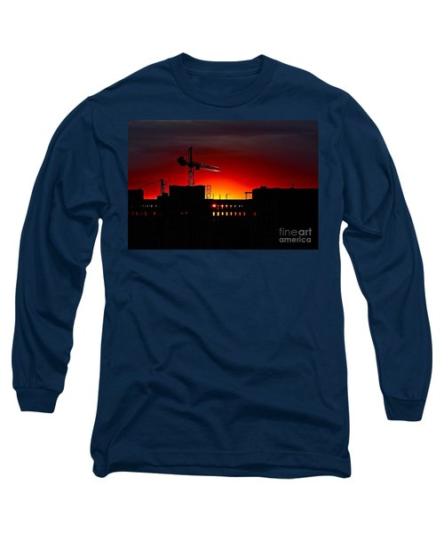 Urban Sunrise Long Sleeve T-Shirt by Linda Bianic