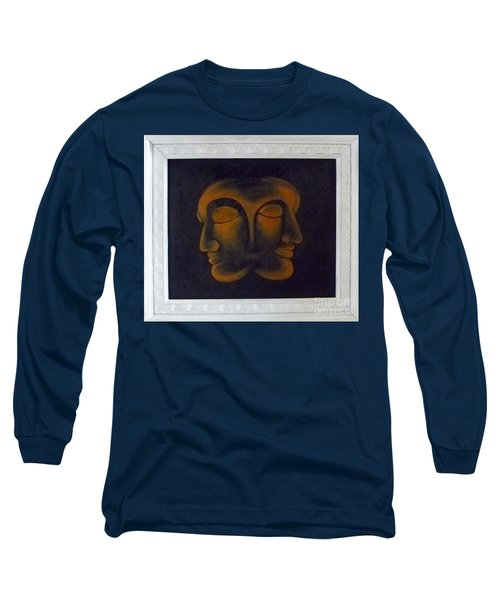 Long Sleeve T-Shirt featuring the painting Us by Fei A