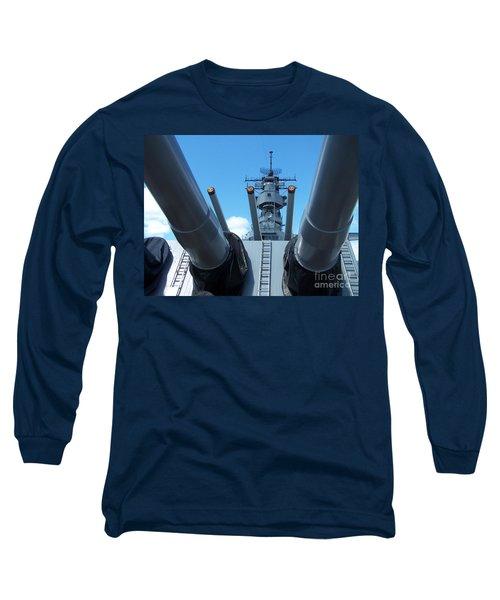 Usa Strength Uss Missouri Long Sleeve T-Shirt by Brigitte Emme