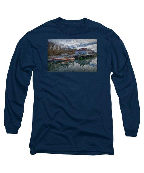Usgs Castle Hill Station Long Sleeve T-Shirt by Joan Carroll