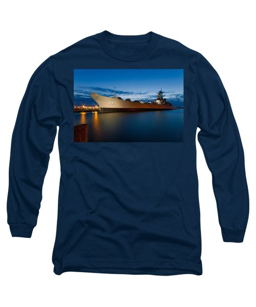 Uss Wisconsin At Sunset Long Sleeve T-Shirt