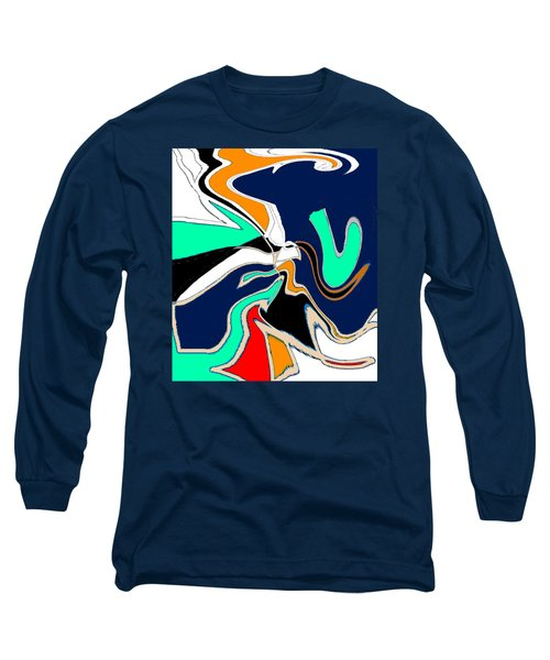 Original Contemporary Art Painting V. Is For Victory Long Sleeve T-Shirt
