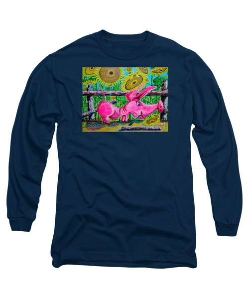 Long Sleeve T-Shirt featuring the painting Van Gogh And Us by Viktor Lazarev