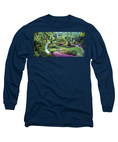 Vancouver Butchart Sunken Gardens Beautiful Flowers No People Panorama Long Sleeve T-Shirt