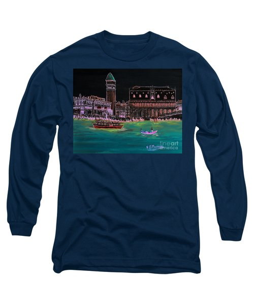 Venice At Night Long Sleeve T-Shirt