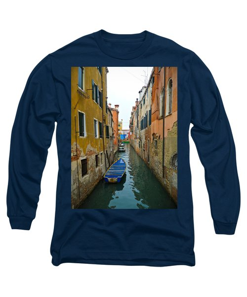 Long Sleeve T-Shirt featuring the photograph Venice Canal by Silvia Bruno