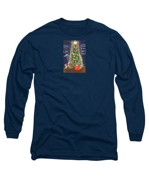Long Sleeve T-Shirt featuring the painting Veronicas Pony Rides Again by Jean Pacheco Ravinski