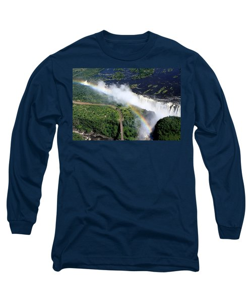 Rainbow Over Victoria Falls  Long Sleeve T-Shirt