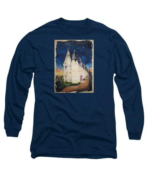 The Victorian Apartment Building By Rjfxx. Original Watercolor Painting. Long Sleeve T-Shirt by RjFxx at beautifullart com
