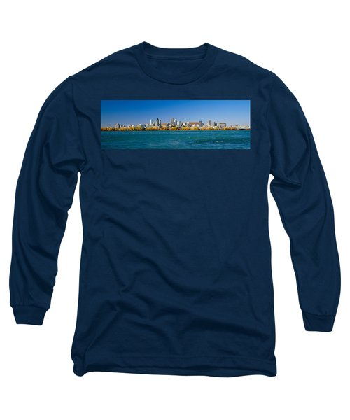 View Of Montreal Skyline And The Saint Long Sleeve T-Shirt