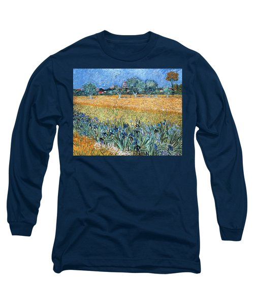 Field With Flowers Near Arles Long Sleeve T-Shirt