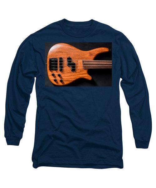 Vintage Bass Guitar Body Long Sleeve T-Shirt