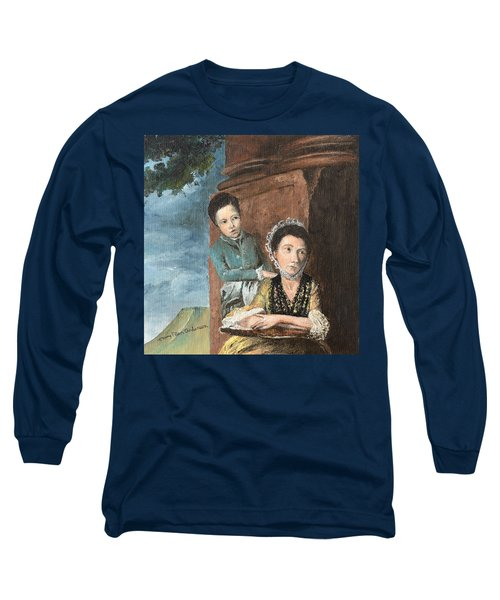Vintage Mother And Son Long Sleeve T-Shirt by Mary Ellen Anderson