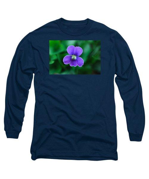 Violet Splendor Long Sleeve T-Shirt by Julie Andel