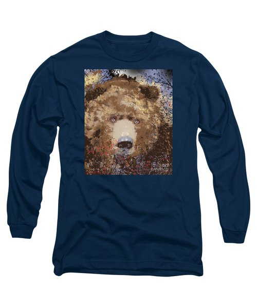 Visionary Bear Long Sleeve T-Shirt by Kim Prowse