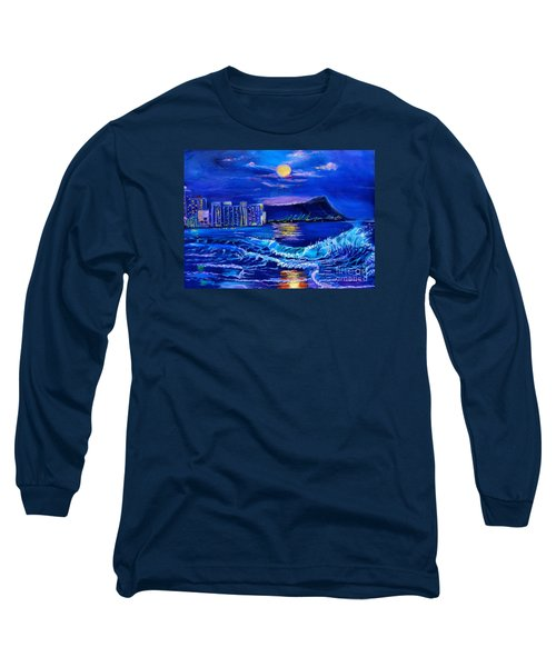 Waikiki Lights Long Sleeve T-Shirt by Jenny Lee