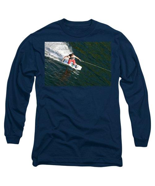 Wakeboard On Mara Lake, Bc Long Sleeve T-Shirt