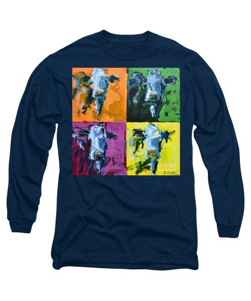 Warhol Cows Long Sleeve T-Shirt by Robert Joyner