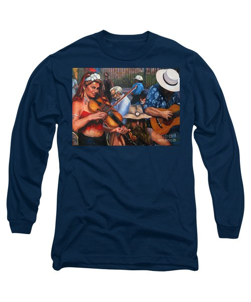 Washboard Lissa On Fiddle Long Sleeve T-Shirt