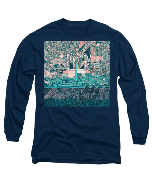 Washington Dc Skyline Abstract 5 Long Sleeve T-Shirt