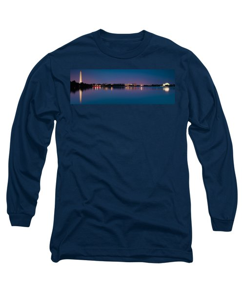 Long Sleeve T-Shirt featuring the photograph Washington Skyline by Sebastian Musial