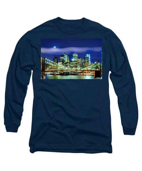 Watching Over New York Long Sleeve T-Shirt by Az Jackson
