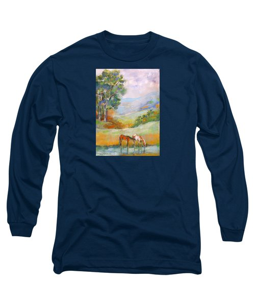 Water Hole Long Sleeve T-Shirt by Mary Armstrong