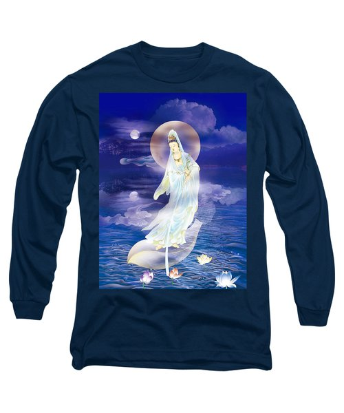 Water Moon Avalokitesvara  Long Sleeve T-Shirt