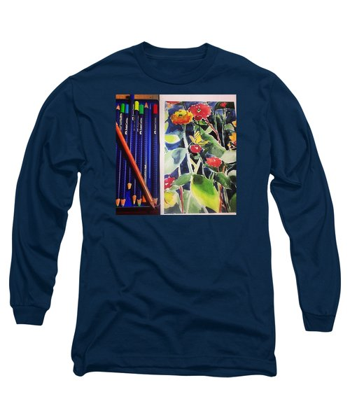 Watercolor Greetings Cards.... Pintando Long Sleeve T-Shirt