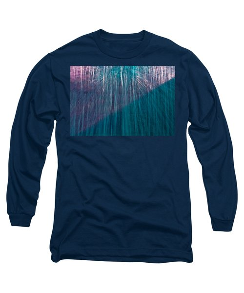 Waterfall Abstract Long Sleeve T-Shirt by Stuart Litoff