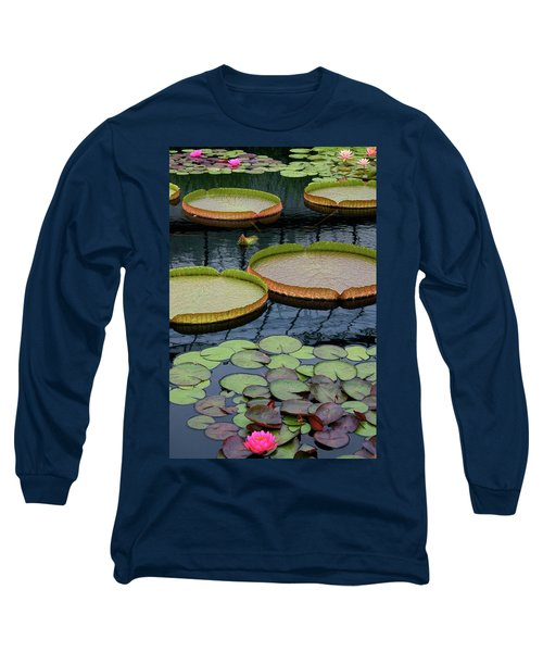 Waterlilies And Platters 2 Long Sleeve T-Shirt