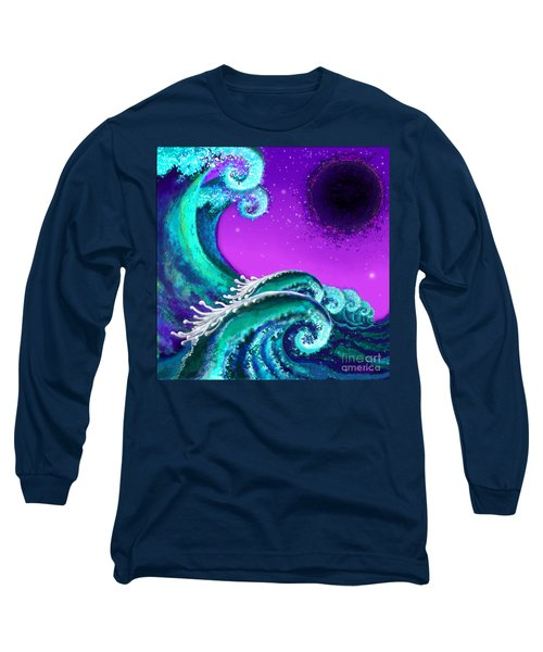 Waves Long Sleeve T-Shirt by Carol Jacobs