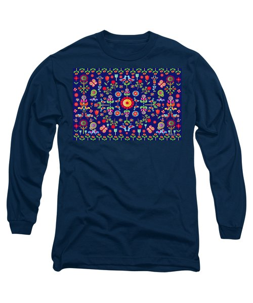 Wayuu Tapestry Long Sleeve T-Shirt by Gabriela Delgado