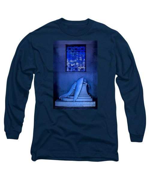 Weeping Angel Long Sleeve T-Shirt by Jerry Fornarotto