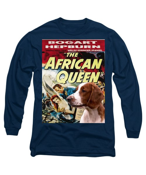 Welsh Springer Spaniel Art Canvas Print - The African Queen Movie Poster Long Sleeve T-Shirt