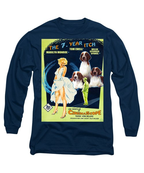 Welsh Springer Spaniel Art Canvas Print - The Seven Year Itch Movie Poster Long Sleeve T-Shirt