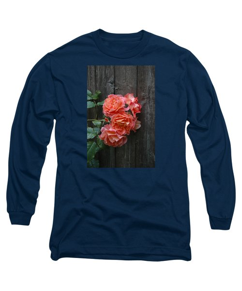 Westerland Rose Wood Fence Long Sleeve T-Shirt