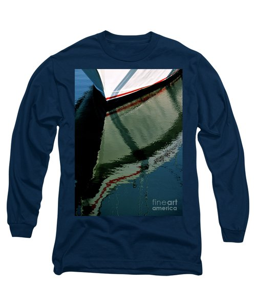 White Hull On The Water Long Sleeve T-Shirt