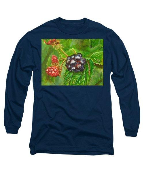 Wild Blackberries Long Sleeve T-Shirt