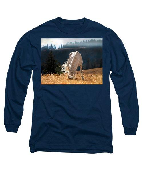 Wild Horse Cloud Long Sleeve T-Shirt by Leland D Howard