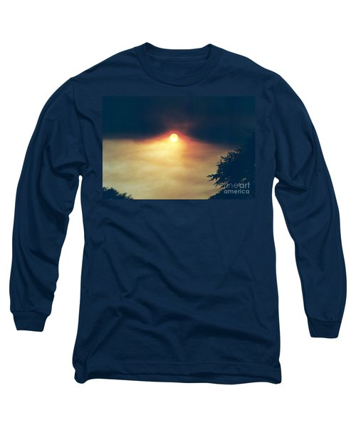 Long Sleeve T-Shirt featuring the photograph Wildfire Smoky Sky by Kerri Mortenson
