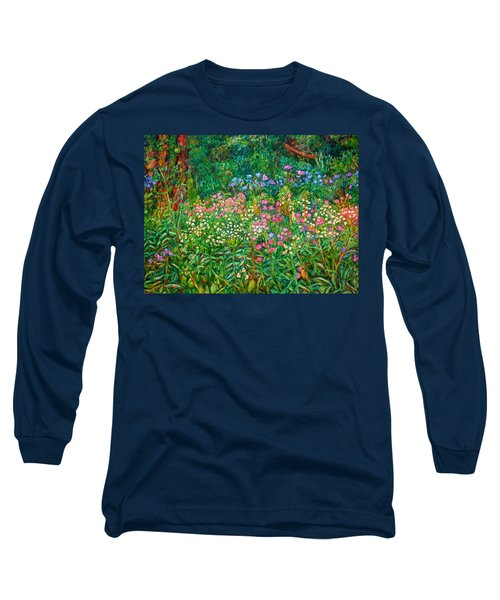 Long Sleeve T-Shirt featuring the painting Wildflowers Near Fancy Gap by Kendall Kessler