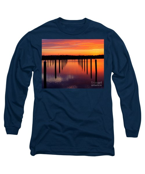 Long Sleeve T-Shirt featuring the photograph Winchester Bay Sunset by Bill Gabbert