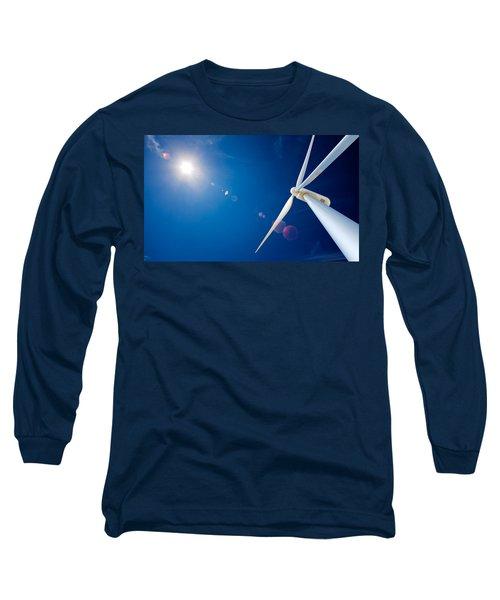 Wind Turbine And Sun  Long Sleeve T-Shirt
