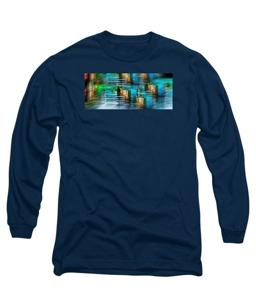 Long Sleeve T-Shirt featuring the photograph Windows Into The Blue by Pamela Blizzard