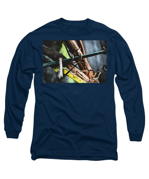 Wine Branches Long Sleeve T-Shirt by Tine Nordbred