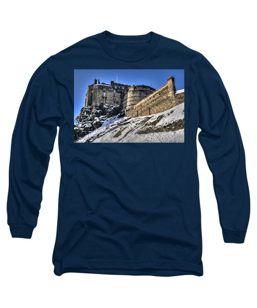 Winter At Edinburgh Castle Long Sleeve T-Shirt