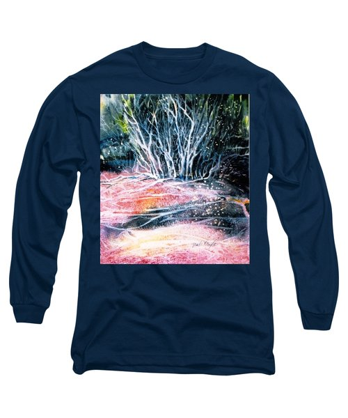 Long Sleeve T-Shirt featuring the painting Winter Habitat No.1 by Trudi Doyle