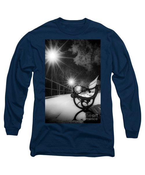 Winter Night Along The River Long Sleeve T-Shirt